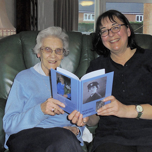 Elephant Memoirs book 'Wartime Memories' with author Betty Walker being delivered by Joss Carpreau